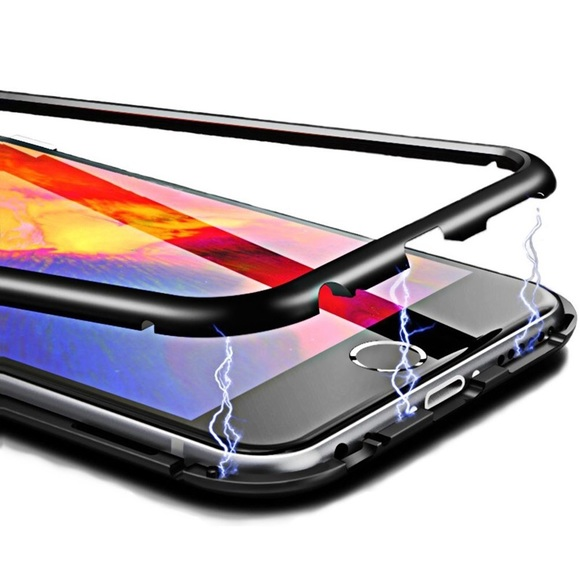 Accessories - Magnetic IPhone Bumper Case with clear back